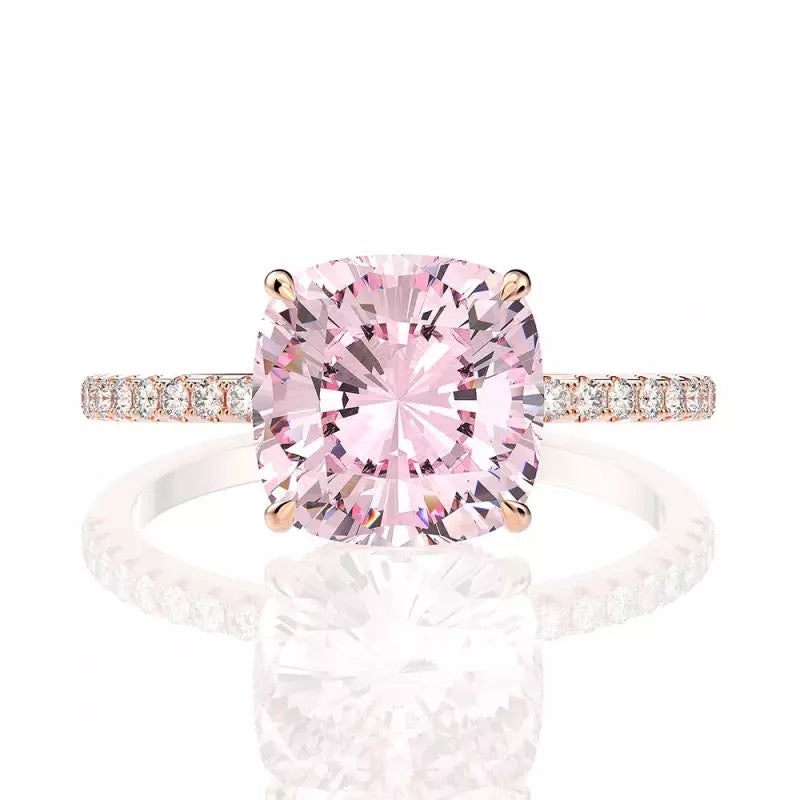 Pink Diamond Solitaire Ring