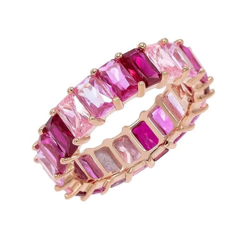 Pink Diamond Oval Eternity Ring