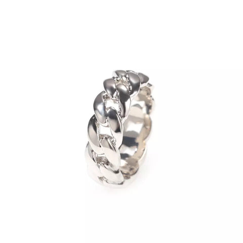 Jagged Cuban Ring