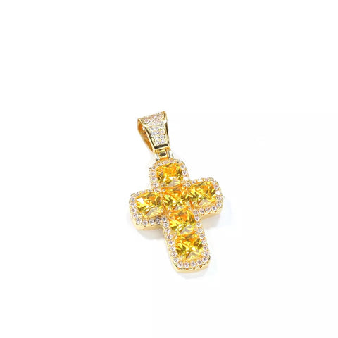 Gold Diamond Letter Pendant