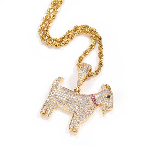Dripping Savage Gold and Diamond Pendant