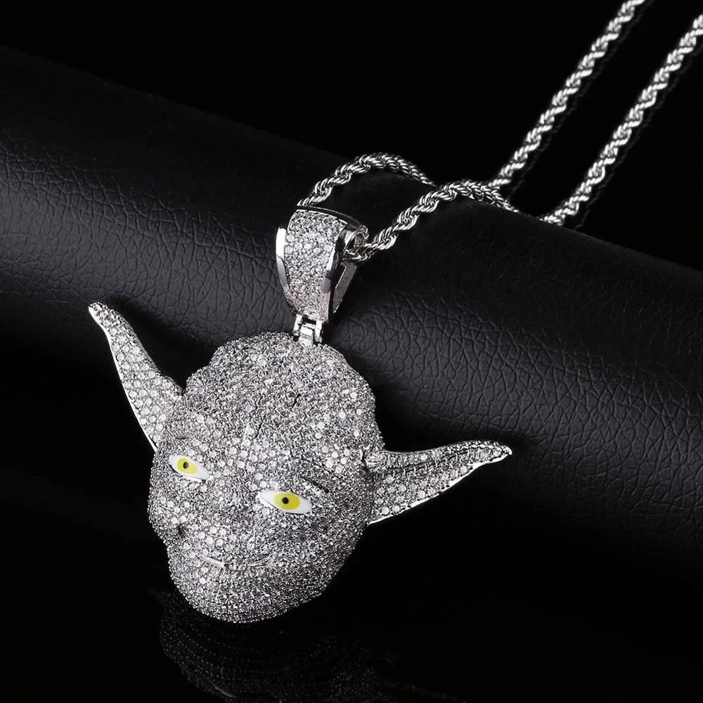 Yoda Diamond Pendant