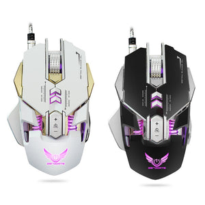 2018 New Professional  X300 4000 DPI Optical Mechanical Wired Gaming Mouse 7 Button