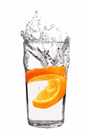 Refreshing & hydrating real orange mixing with water