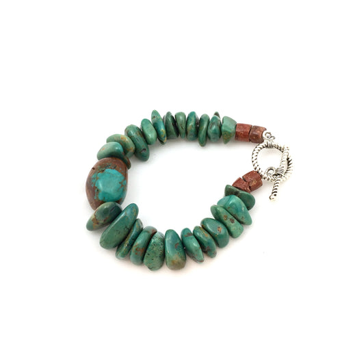 Turquoise Nuggets with Focus Stone