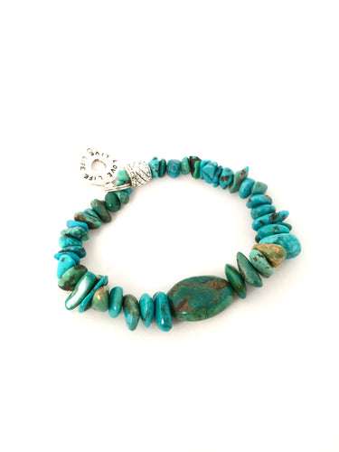 Turquoise and Focus Stone  |  8 inch