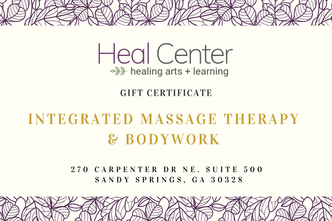 Massage Therapy Gift Certificates