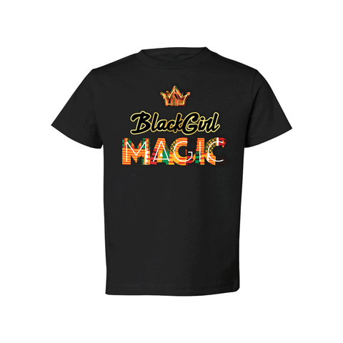 Black Girl Magic Short Sleeve Shirt - Babies & Toddlers-Unuheritage