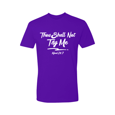 Thou Shall Not Try Me Short Sleeve Shirt - Men's - Unuheritage
