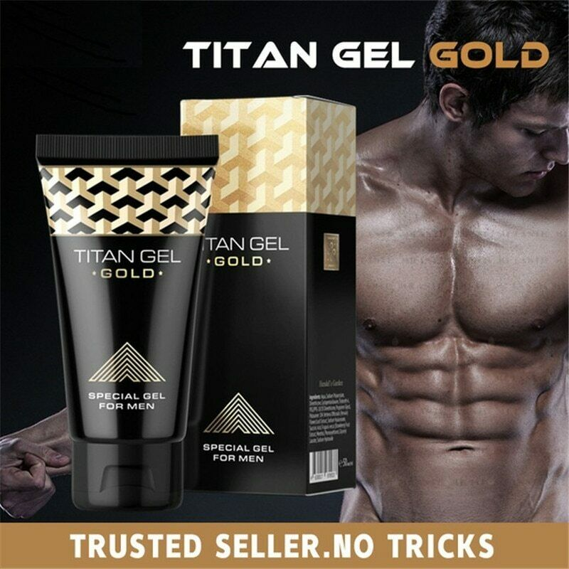 Titan Gel Gold Penis Enlargement Cream Increase Male's Growth Dick Potence Enhancement Sex Products for Adults Aphrodisiac for Men