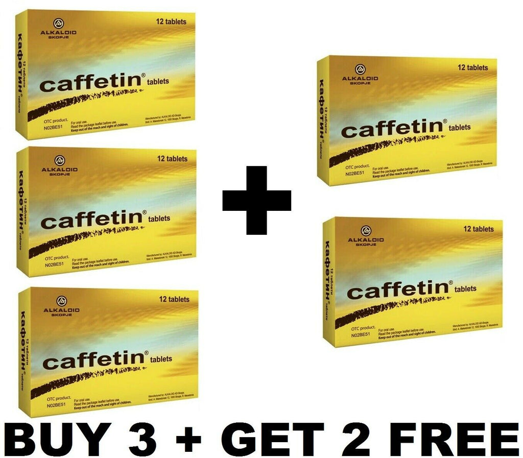 BUY 3 + GET 2 FREE  CAFFETIN Pills Pain Relief Pain Tablets headache, toothache, migraine,neuralgia,ishialgia,