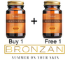 BUY 1 + FREE 1 -100% Natural and Organic -SUNLESS TANNING -BRONZAN capsules for  golden bronze tan all year