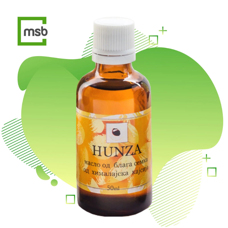 hunza sweet apricot kernel oil on mega store box background