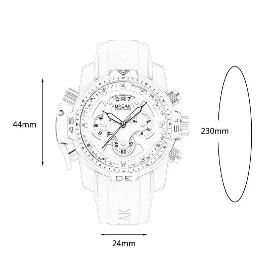 grenade series sport break watches dimensions chart