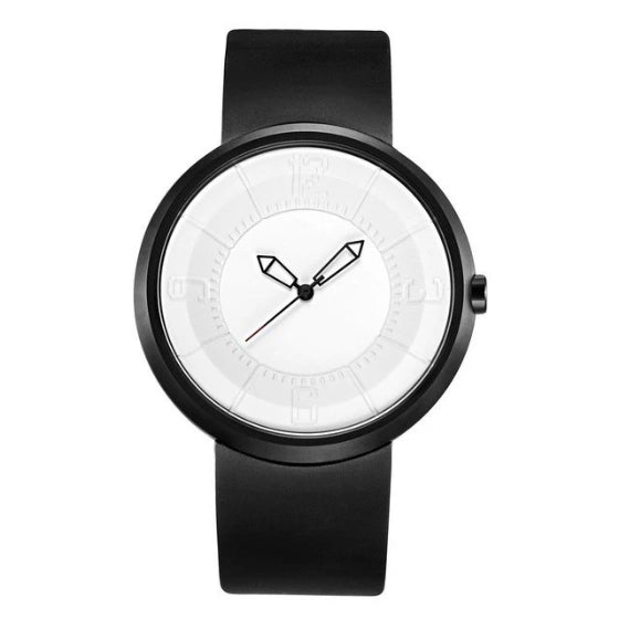 white supreme classic break watch on white background