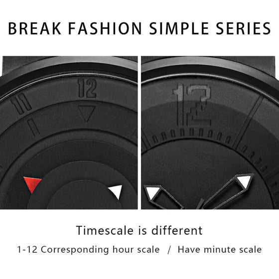 supreme series black break watch dial details