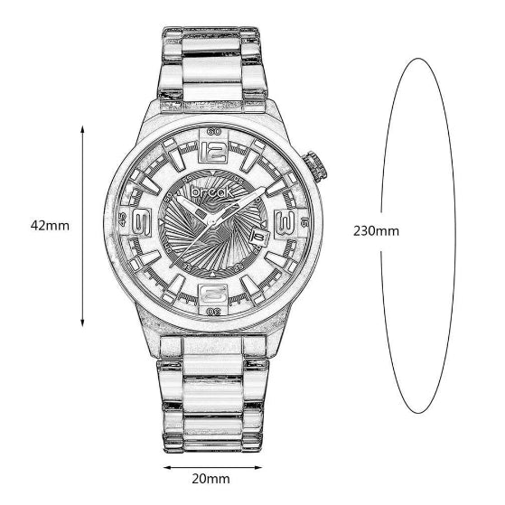 shutter series break watch dimension chart