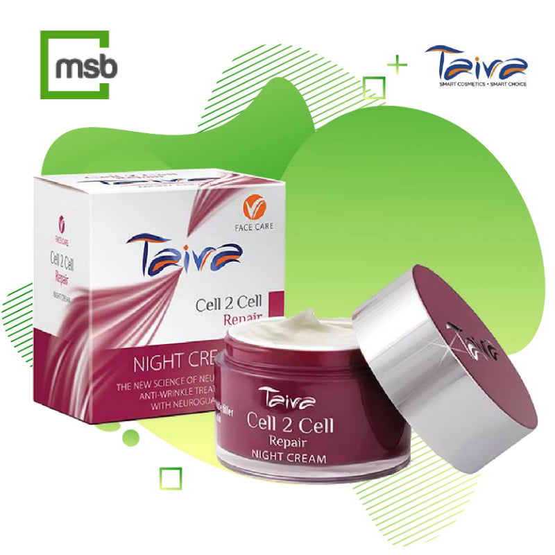 package of taiva cell 2 cell day cream on mega store box background