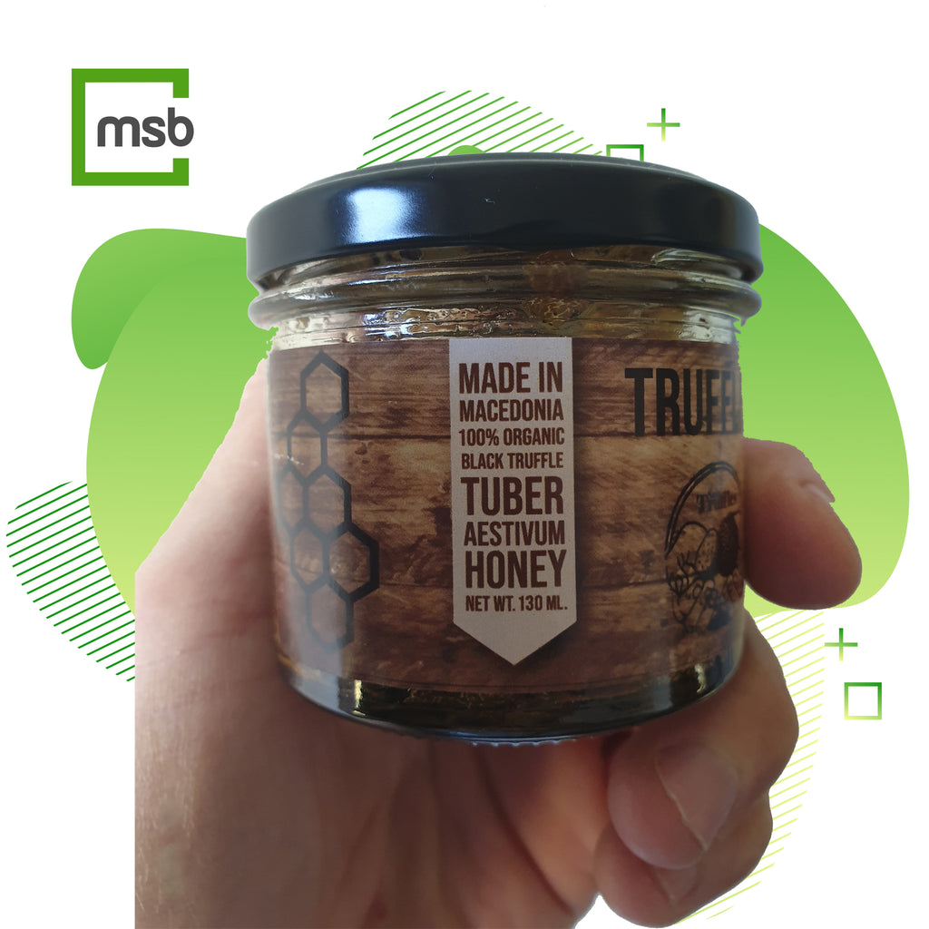 Black Truffles Honey 4.3 Oz - Healthy Strong Immune System 100% Organic and Natural Tuber Uncinatum