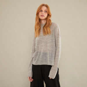 Sweater Full | Baby Alpaca | Gris Claro