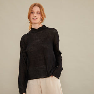 Sweater Full | Baby Alpaca | Negro