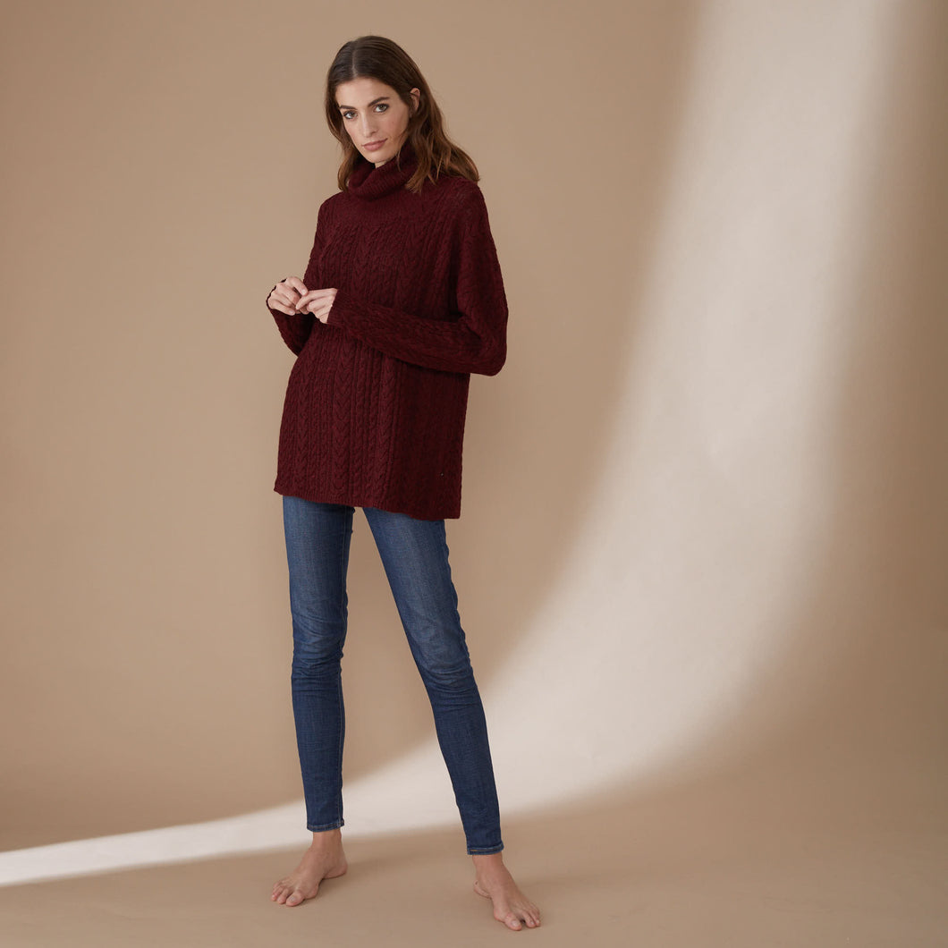 Sweater Faran | Baby Alpaca | Bordeaux