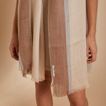 Chal Mayra | Baby Alpaca | Beige Camel & Gris