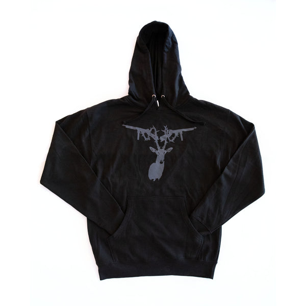 Antler, Black w/ Dark Grey Hoodie w/ Black Strings