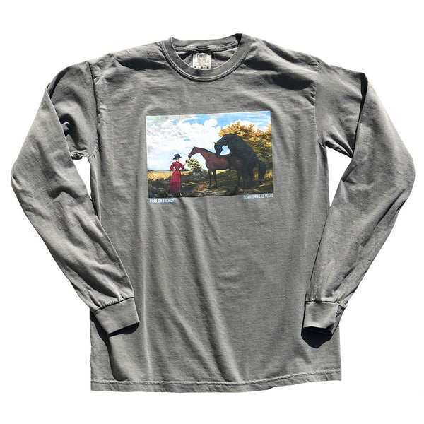 Horses, Long Sleeve Grey Long Sleeve