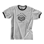 Ringer Tee, Light Grey w/ Black Crew T-Shirt