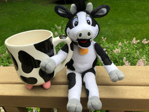 """Beaker"" the Cow Plushie! - The Cows Go Moo!"