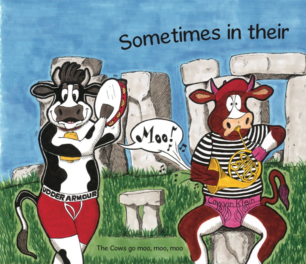 The Cows Go Moo! Hardcover Book - The Cows Go Moo!