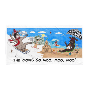 The Cows Go Moo Beach Towel - The Cows Go Moo!