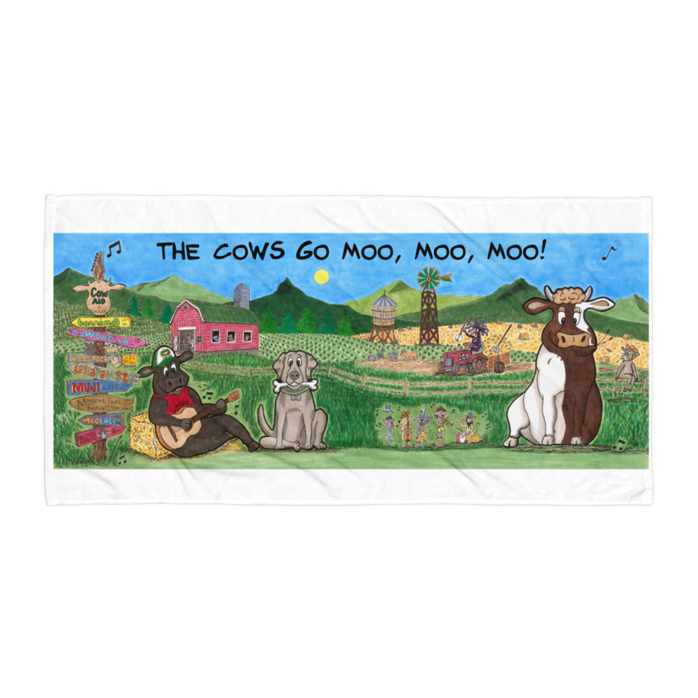 Moosic Festival Towel! - The Cows Go Moo!