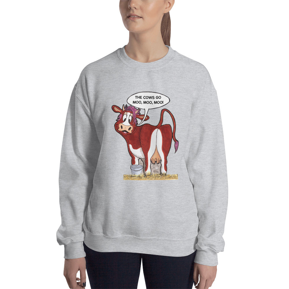 Bessie Sweatshirt - The Cows Go Moo!