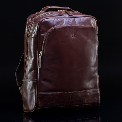 practical leather backpack