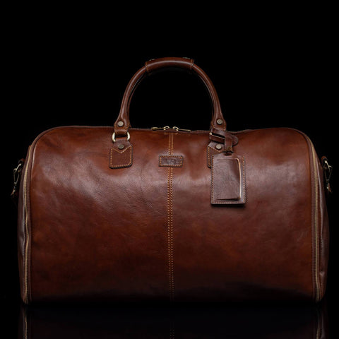 Von Baer soft full-grain calf-skin grand mens leather suit bag