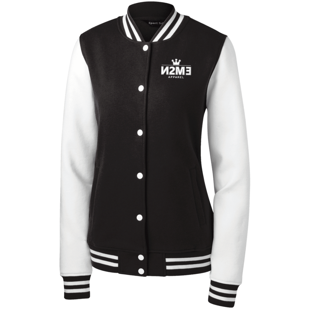 N2me Women's Fleece Letterman Jacket
