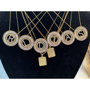 Gold and Silver letter necklace