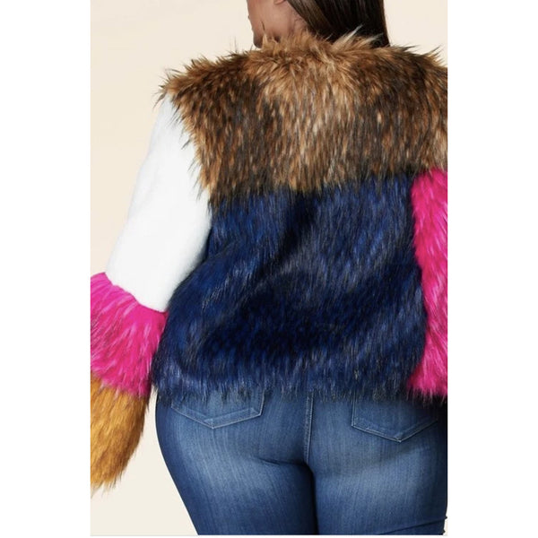 All mixed up fur jacket