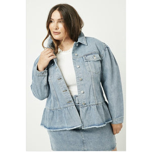 Peplum we for denim jacket