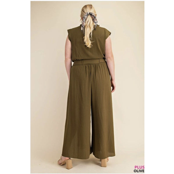 Open leg jumpsuit