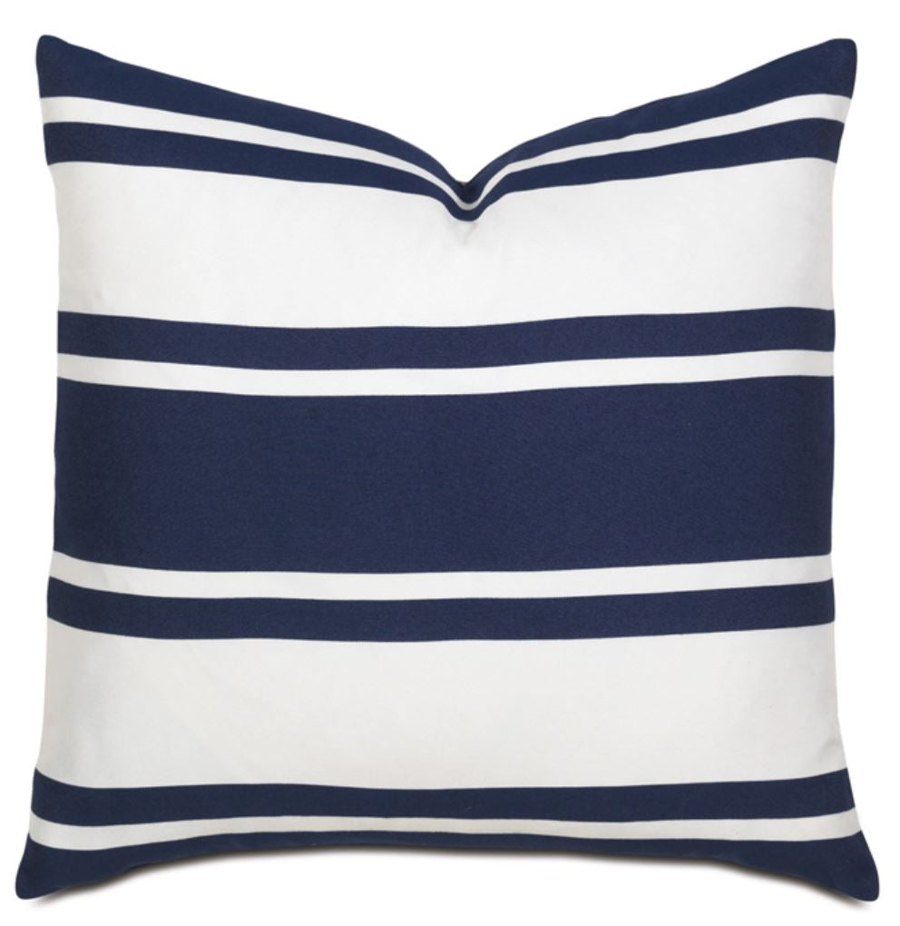 Indigo and White Knife Edge Pillow