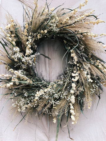 Dried Wreath: Winter Romance