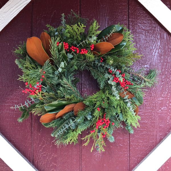 Merry & Bright wreath size small.