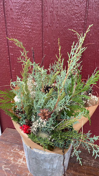 Holiday Evergreen Bouquet