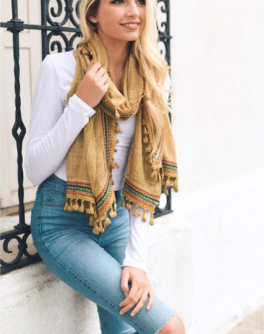 Cozy Fall Travel Scarf