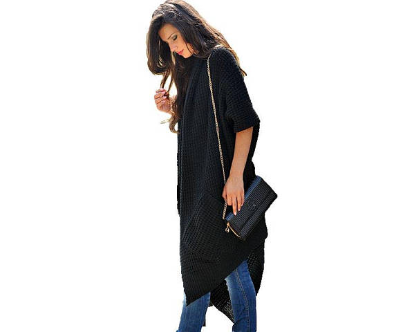 Asymmetrical Long & Warm Sweater Coat Spocket App