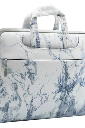 Luxe Marble Laptop Bag w/Shoulder Strap
