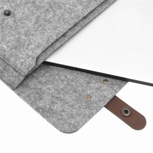 Felt MacBook Laptop Sleeve w/Shoulder Strap
